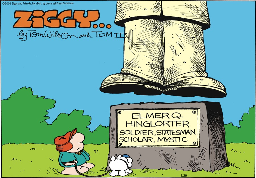 Sign: Elmer Q. Hinglorter: Soldier, statesman, scholar, mystic