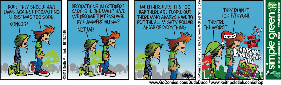 Dude and Dude Comic Strip for October 09, 2019