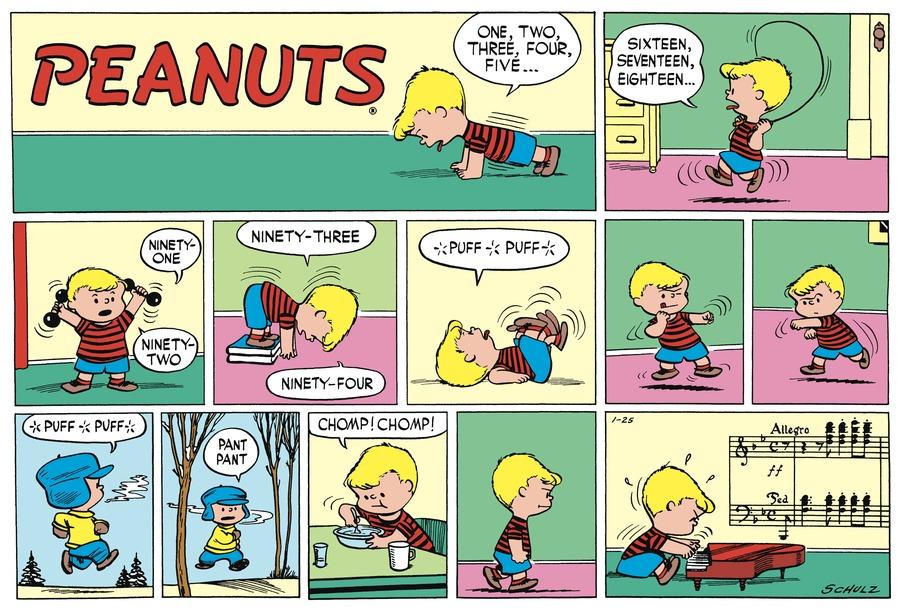 Peanuts Begins Comic Strip for January 23, 2021