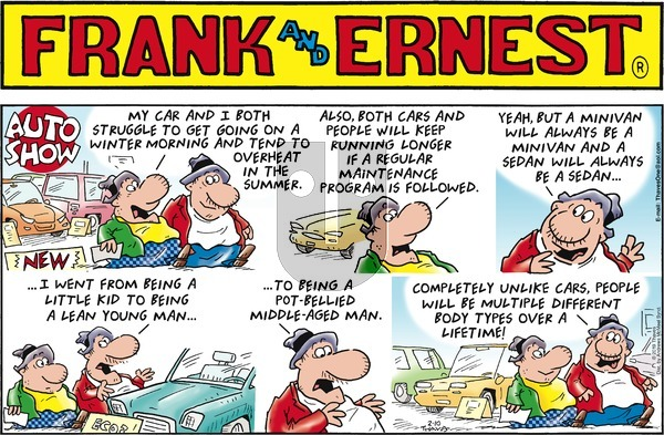 Frank and Ernest on Sunday February 10, 2019 Comic Strip