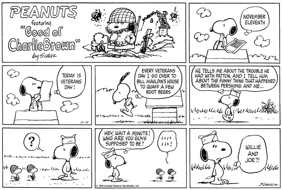 Peanuts Comic Strip for November 11, 1979