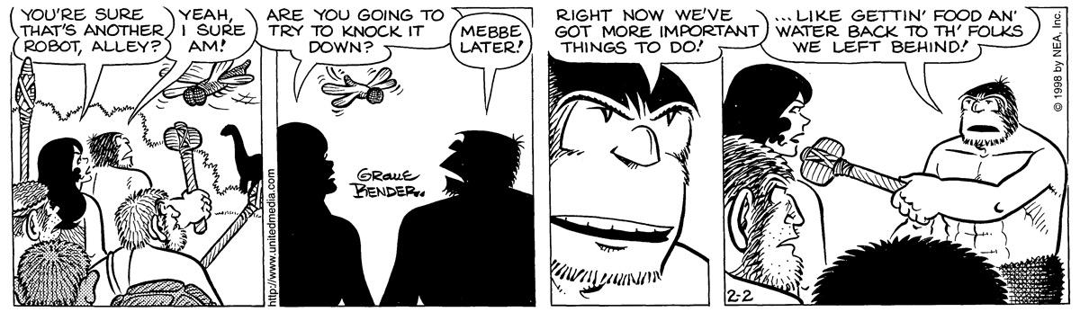 Alley Oop for Feb 2, 1998 Comic Strip