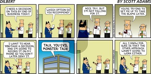 Dilbert on Sunday September 23, 2012 Comic Strip
