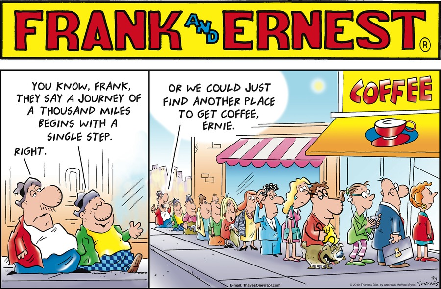 Frank and Ernest Comic Strip for September 01, 2019