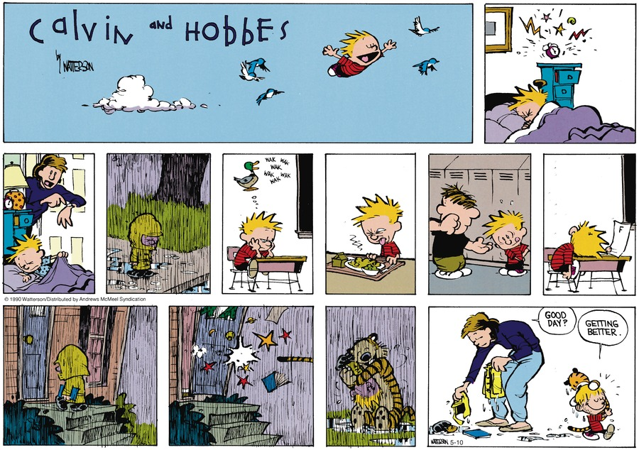 Calvin and Hobbes Comic Strip for May 10, 2020