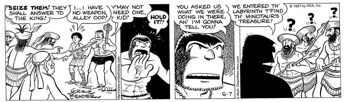 Alley Oop for Jun 7, 1997 Comic Strip