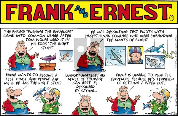 Frank and Ernest on Sunday June 9, 2013 Comic Strip