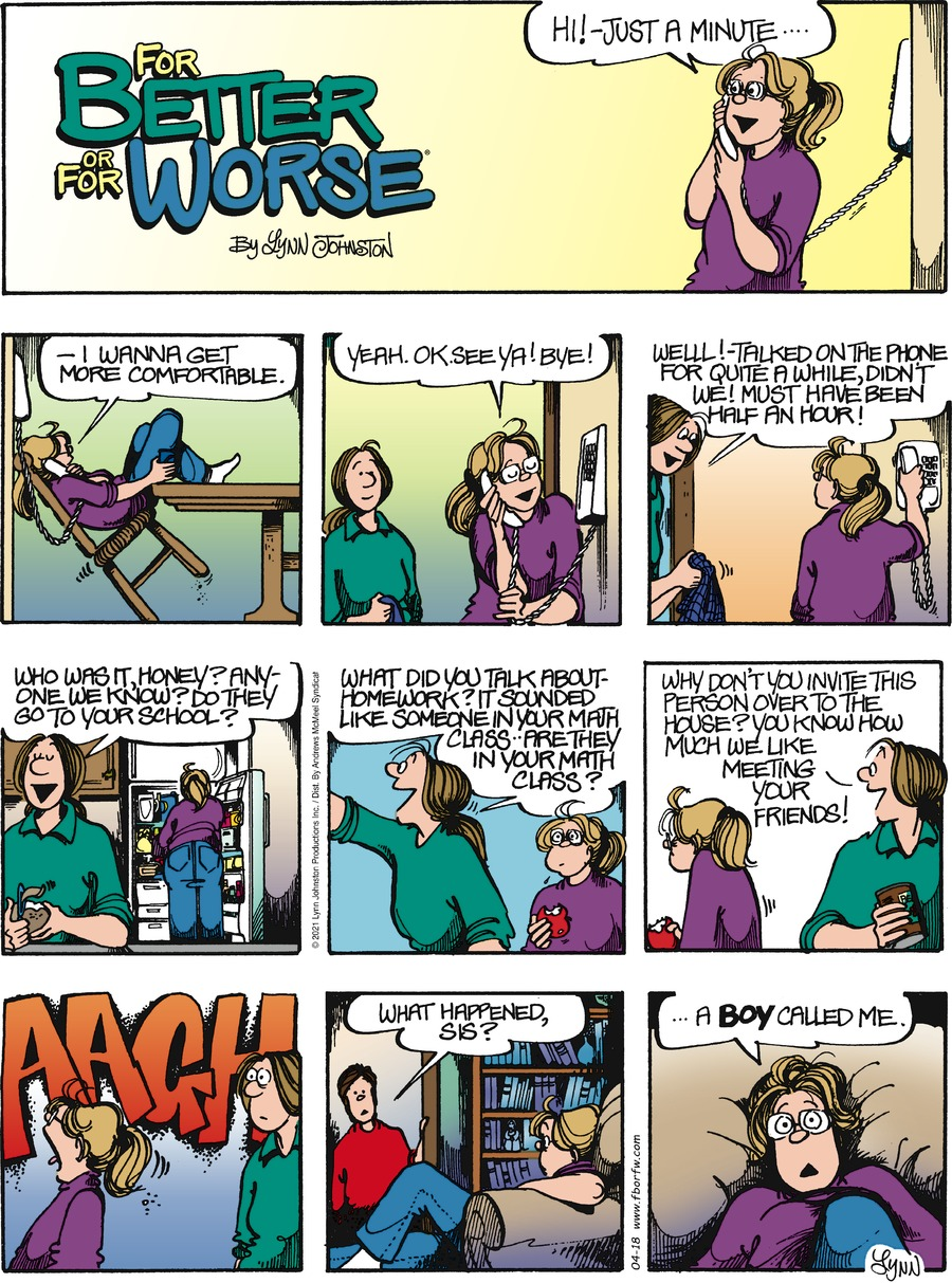 For Better or For Worse Comic Strip for April 18, 2021