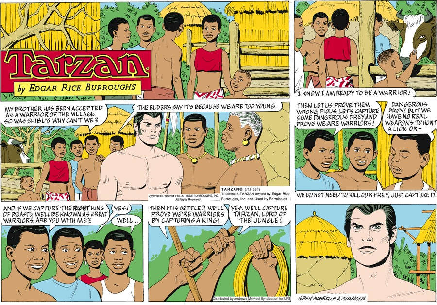 Tarzan by Edgar Rice Burroughs for May 12, 2019