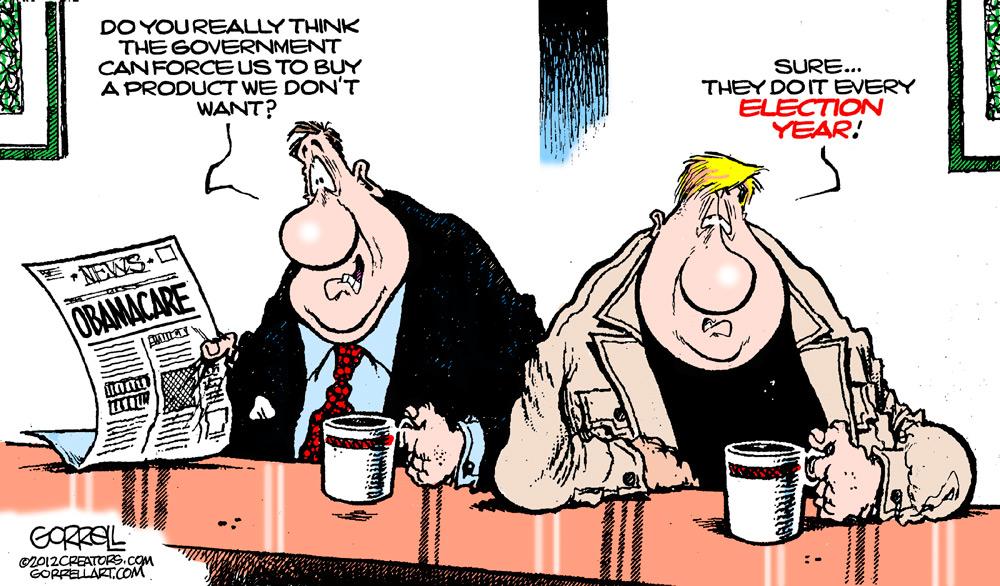 Bob Gorrell Comic Strip for March 28, 2012