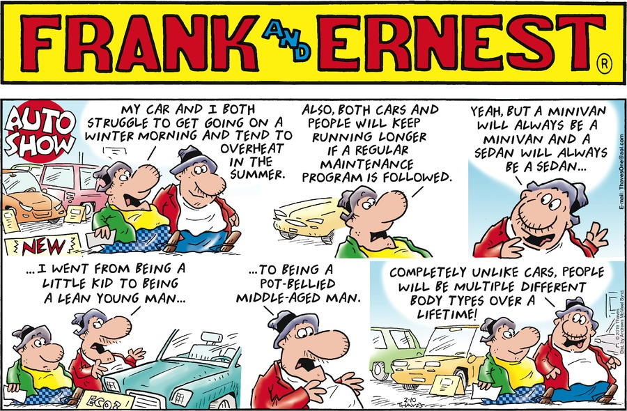 Frank and Ernest Comic Strip for February 10, 2019
