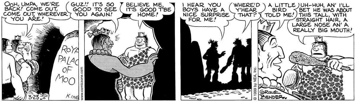Alley Oop for Mar 23, 1999 Comic Strip