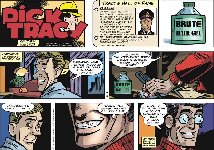 Dick Tracy by Joe Staton and Mike Curtis for March 17, 2019