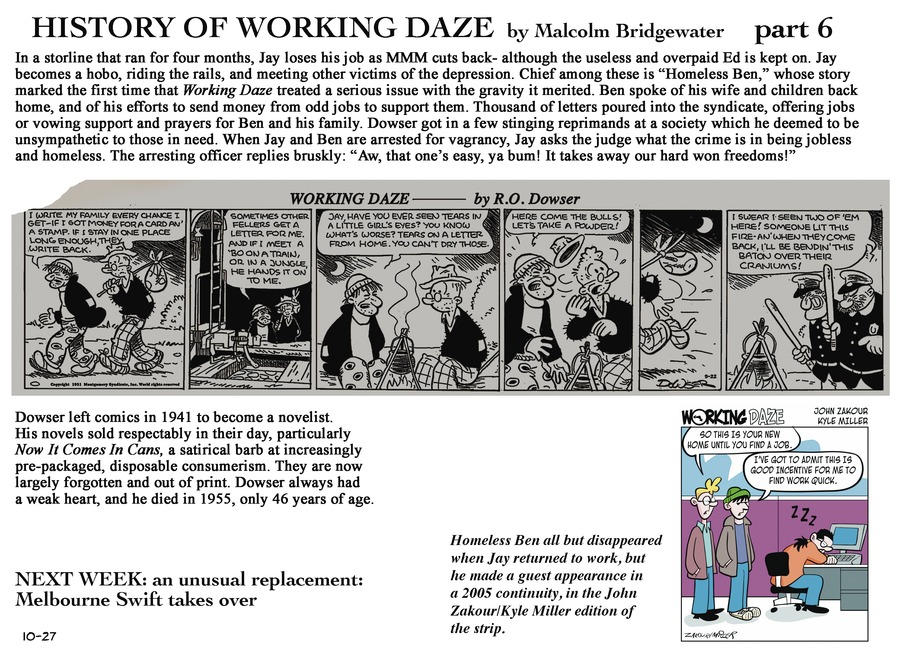 Working Daze Comic Strip for October 27, 2013