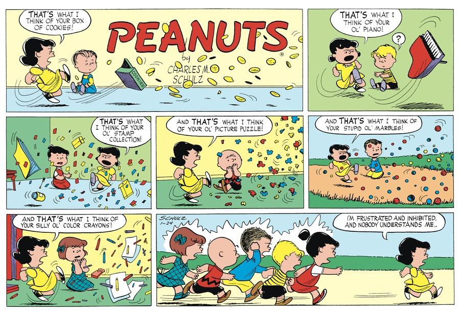 Peanuts Begins Comic Strip for January 24, 1954