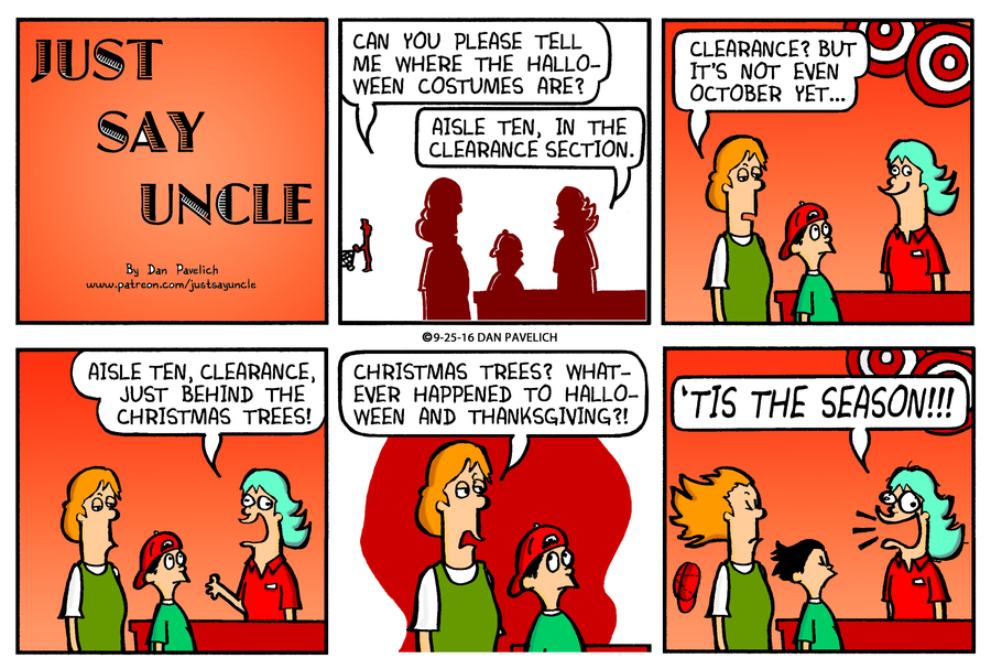 Just Say Uncle for Sep 24, 2017 Comic Strip