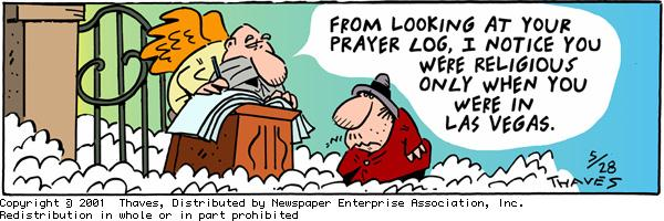 Frank and Ernest Comic Strip for May 28, 2001
