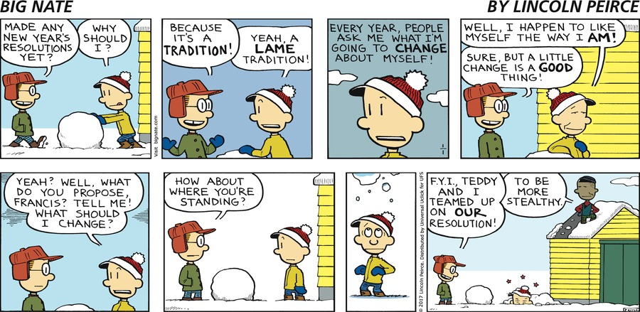 Big Nate Comic Strip for January 01, 2017