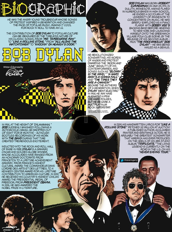 Biographic on Sunday October 22, 2017 Comic Strip