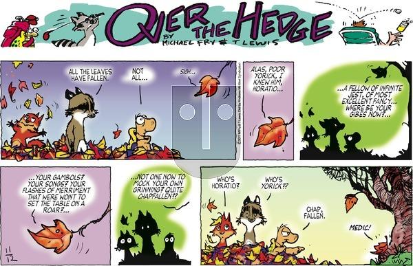 Over the Hedge on Sunday November 12, 2017 Comic Strip