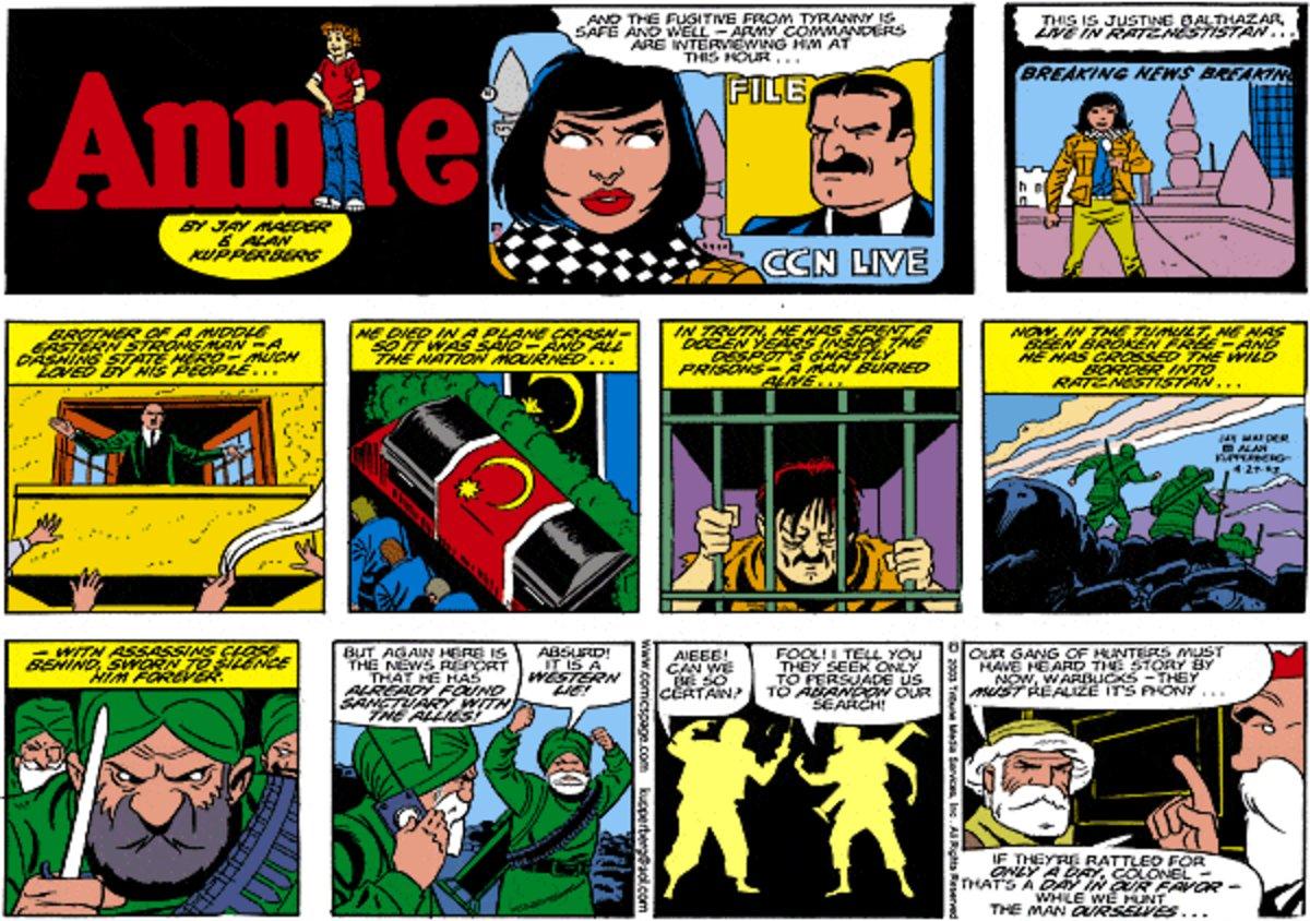 Annie for Jan 26, 2014 Comic Strip