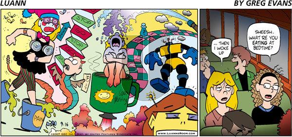 Luann on Sunday September 16, 2007 Comic Strip