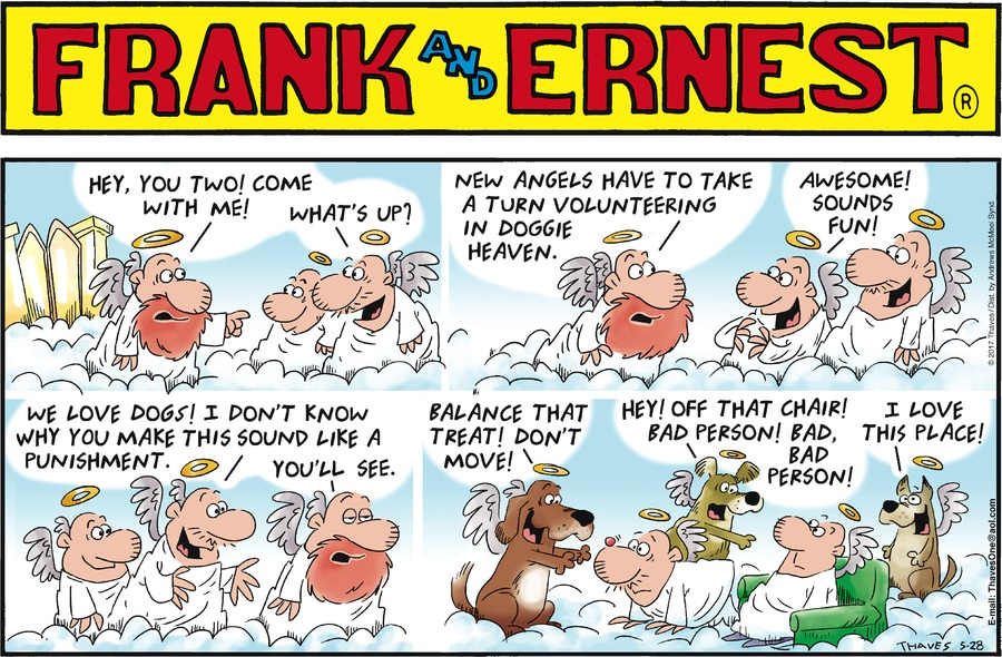 Frank and Ernest Comic Strip for May 28, 2017