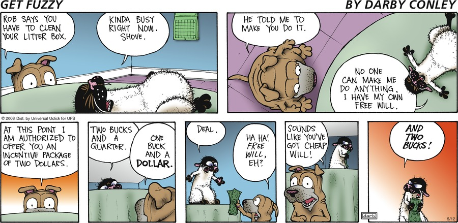Get Fuzzy for May 12, 2013 Comic Strip