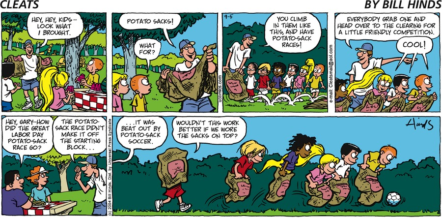 Cleats Comic Strip for September 05, 2004