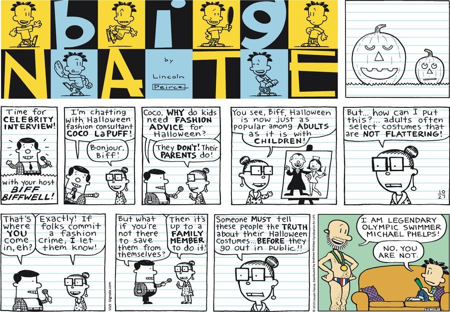 Big Nate Comic Strip for October 27, 2019
