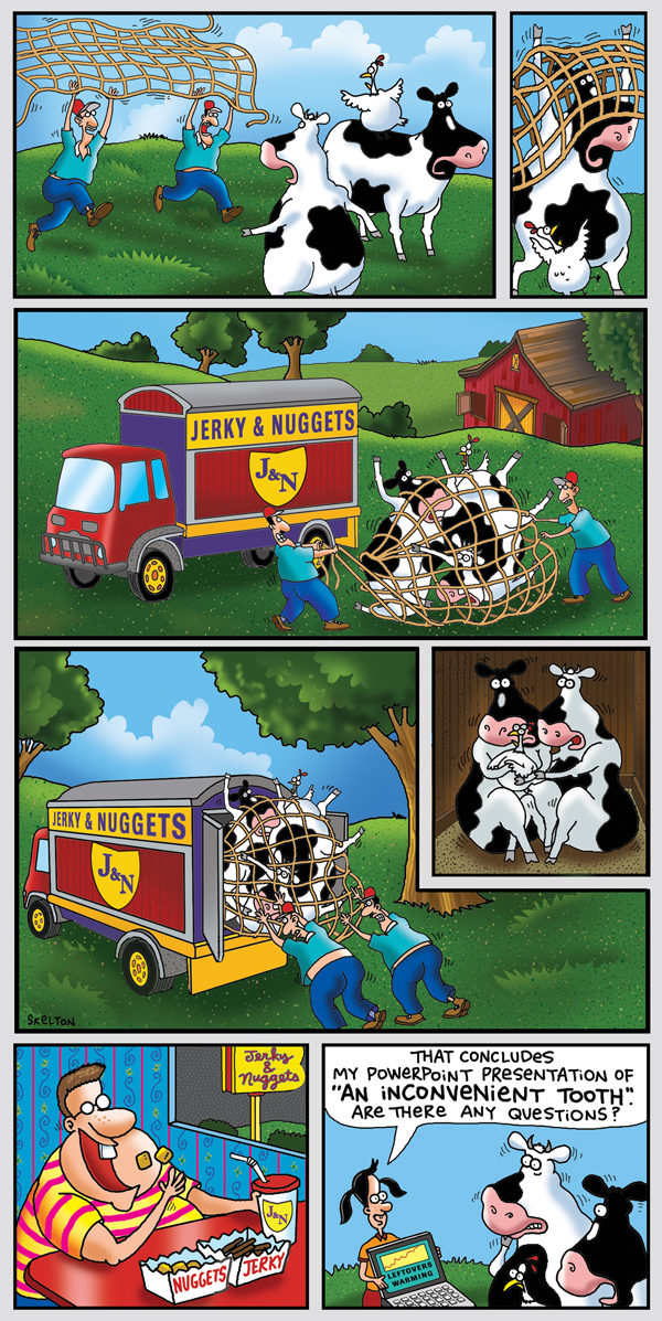 2 Cows and a Chicken Comic Strip for July 13, 2008