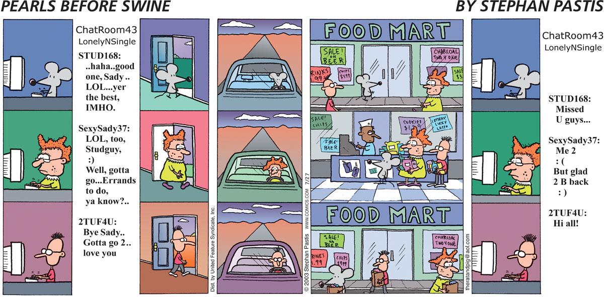 Pearls Before Swine Comic Strip for July 27, 2003