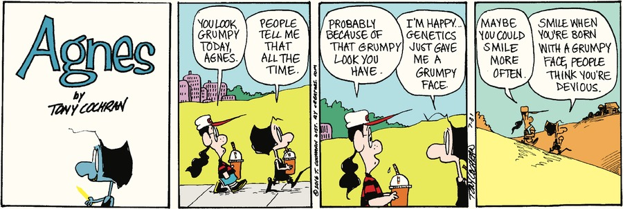 Agnes Comic Strip for July 31, 2016