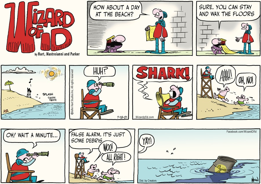 Wizard of Id Comic Strip for July 18, 2021