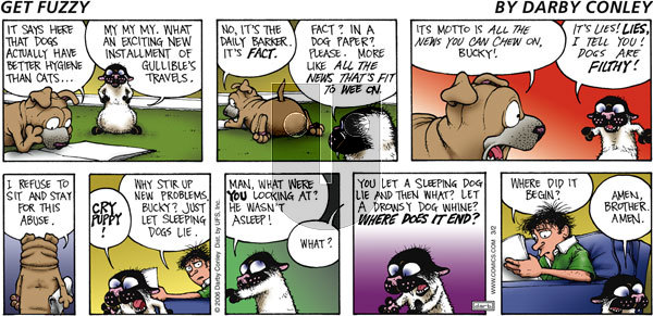 Get Fuzzy on Sunday March 2, 2008 Comic Strip