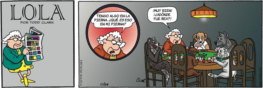 Lola en Español for Nov 29, 2009 Comic Strip