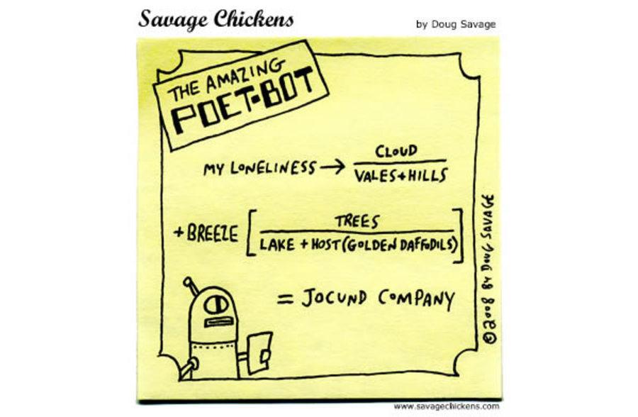 Savage Chickens for Nov 5, 2012 Comic Strip