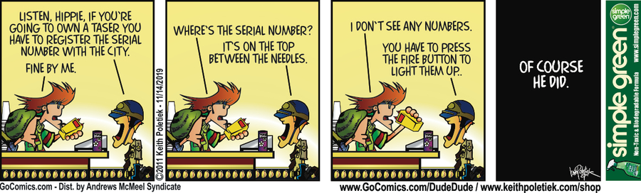 Dude and Dude Comic Strip for November 14, 2019
