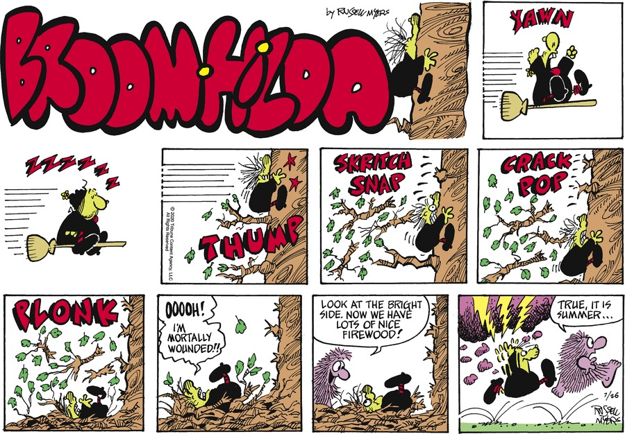 Broom Hilda by Russell Myers on Sun, 26 Jul 2020