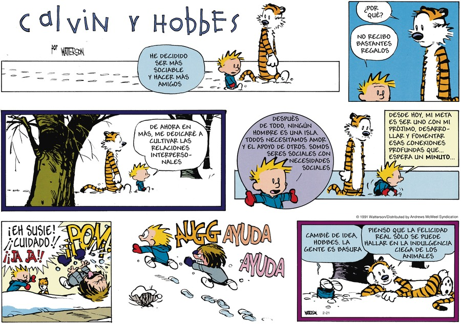 Calvin and Hobbes en Español by Bill Watterson on Sun, 21 Feb 2021