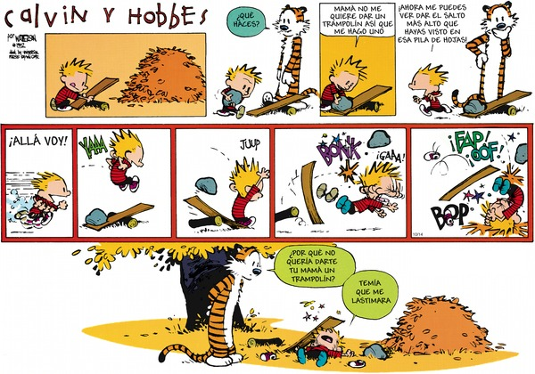 Collectible Print of calvin and hobbes espanol