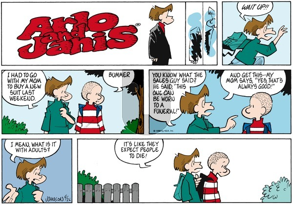 Arlo and Janis on Sunday April 26, 1998 Comic Strip