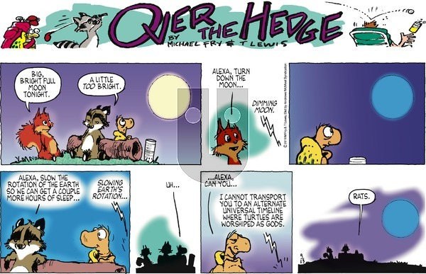 Over the Hedge on Sunday September 23, 2018 Comic Strip