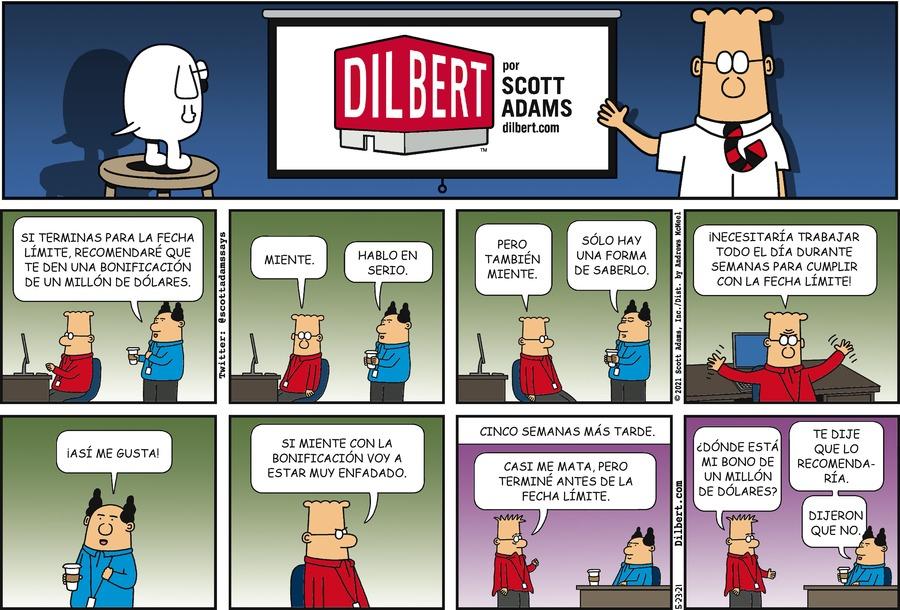 Dilbert en Español Comic Strip for May 23, 2021