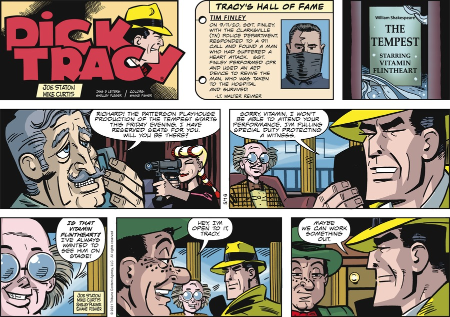 Dick Tracy Comic Strip for May 16, 2021