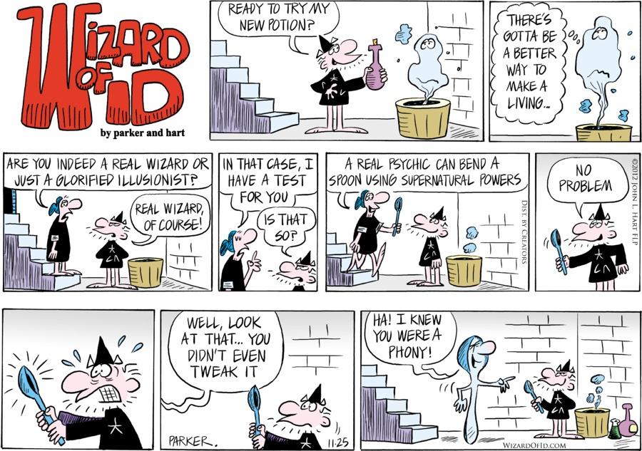 Wizard of Id for Nov 25, 2012 Comic Strip
