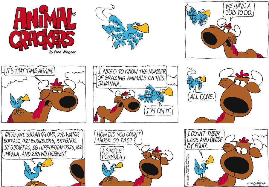 Animal Crackers Comic Strip for October 26, 2014