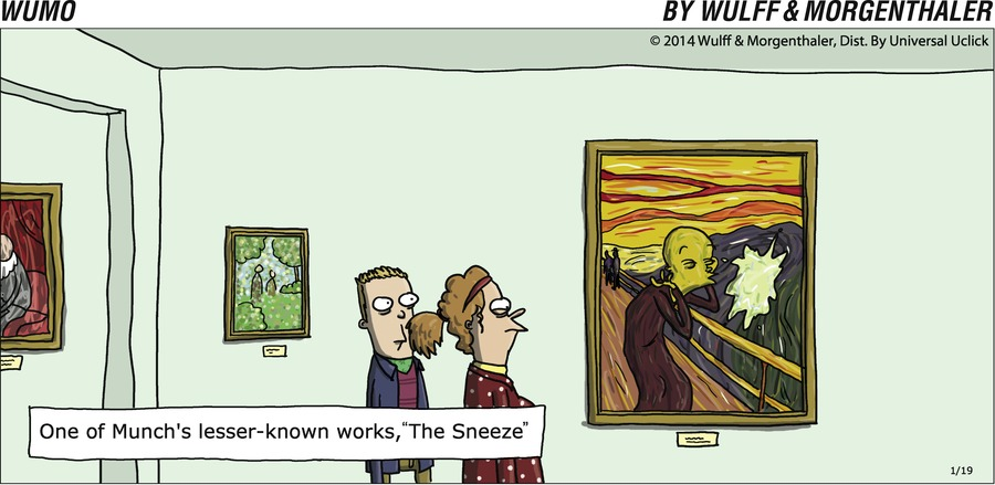 "One of Munch's lesser-known works, ""The Sneeze"""