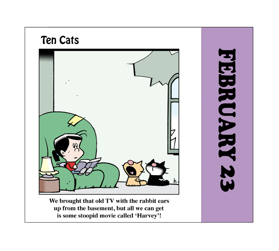 Ten Cats Comic Strip for February 23, 2021