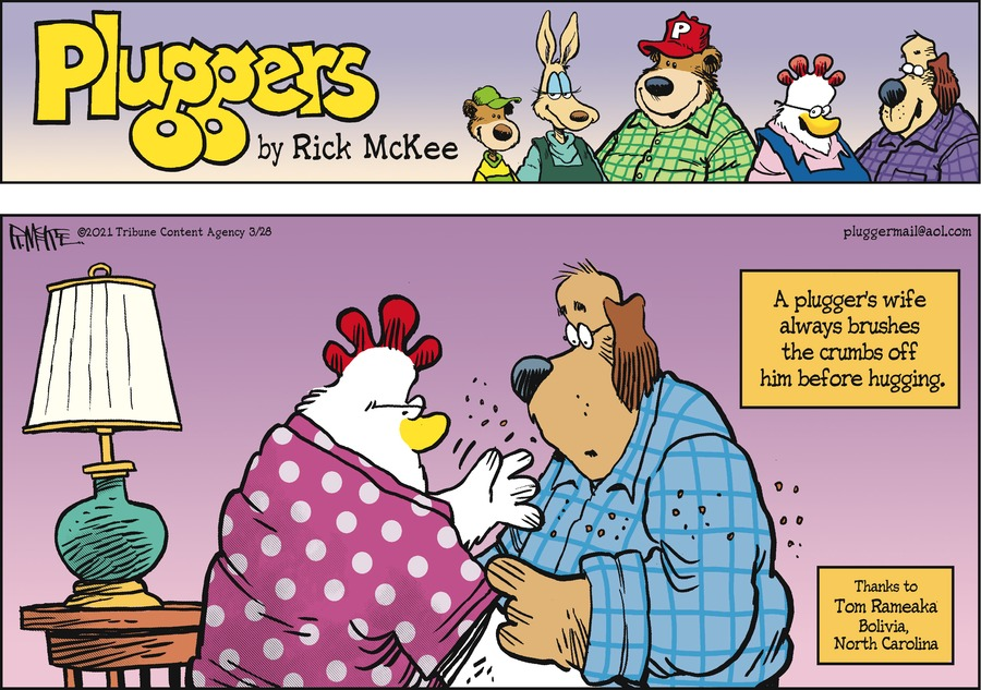 Pluggers Comic Strip for March 28, 2021